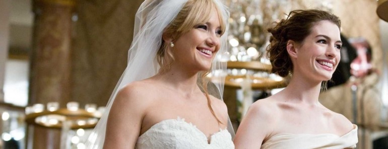 Battling brides Liv (Kate Hudson, left) and Emma (Anne Hathaway) have an emotional reunion at Liv?s wedding.PHOTOGRAPHS TO BE USED SOLELY FOR ADVERTISING, PROMOTION, PUBLICITY OR REVIEWS OF THIS SPECIFIC MOTION PICTURE AND TO REMAIN THE PROPERTY OF THE STUDIO. NOT FOR SALE OR REDISTRIBUTION.