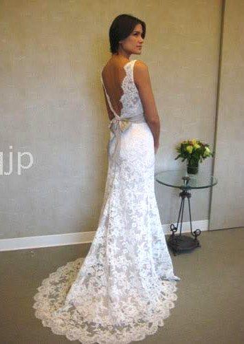 2010 new lace wedding dress informal wedding dresses for Informal lace wedding dress