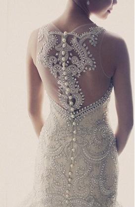 vestido de noiva detalhe costas Veluz Reyez