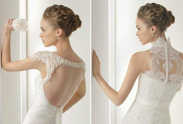 vestido de noiva detalhe nas costas Rosa Clará (2)