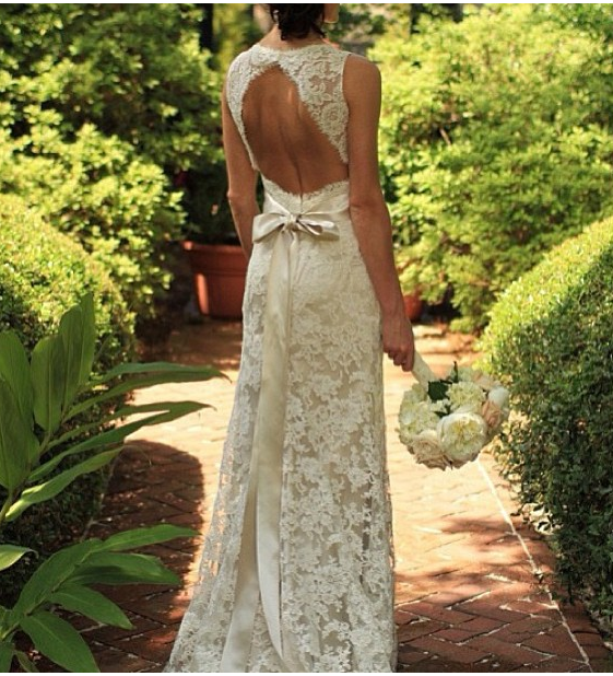 vestido de noiva laço