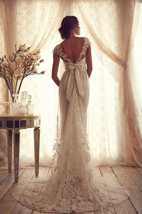 vestido de noiva lindo com decote