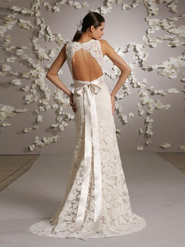 vestido de noiva romantico com decote
