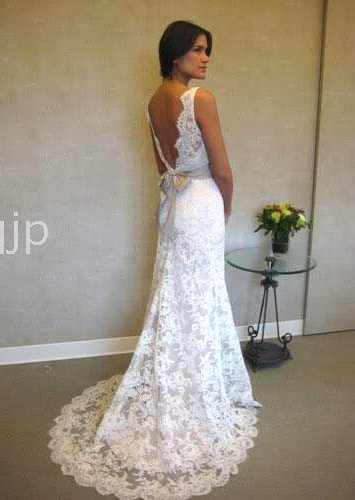 vestido noiva renda e decote