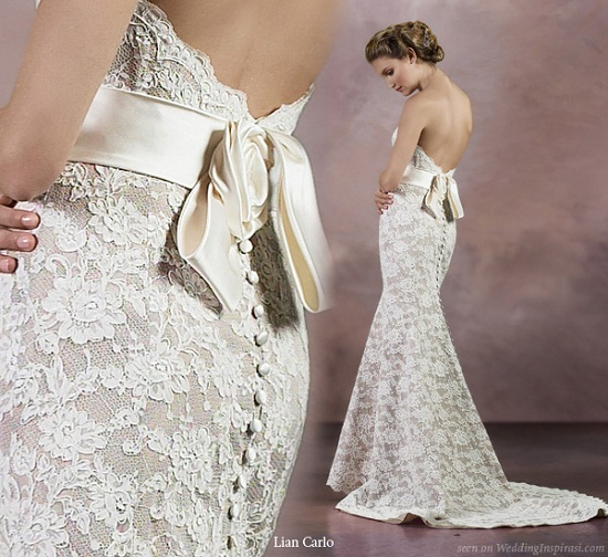 vestido renda e lindo de noiva