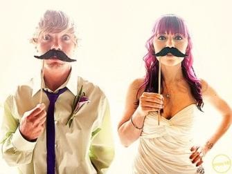 ideias para casamento bigode e boca