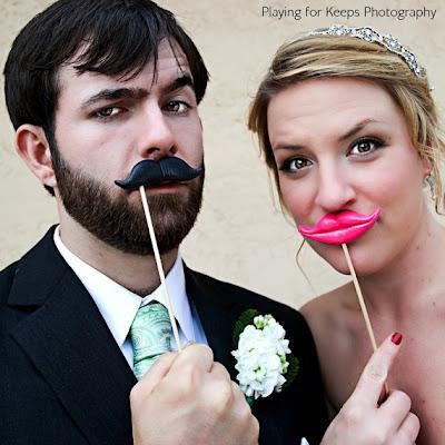 ideias para casamento bigodes e boca