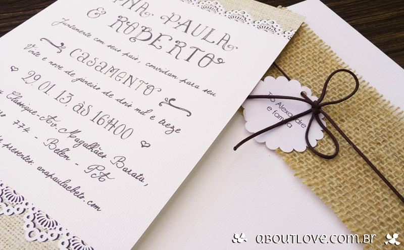 convite de casamento informal rustico-no-sitio-