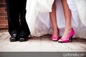 ideias para casamento sapato rosa