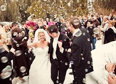 ideias para casamento bolas de sabão