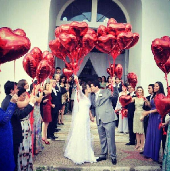 5 ideias para casamento Noivinha em Folha -> Decoração Balões Casamento