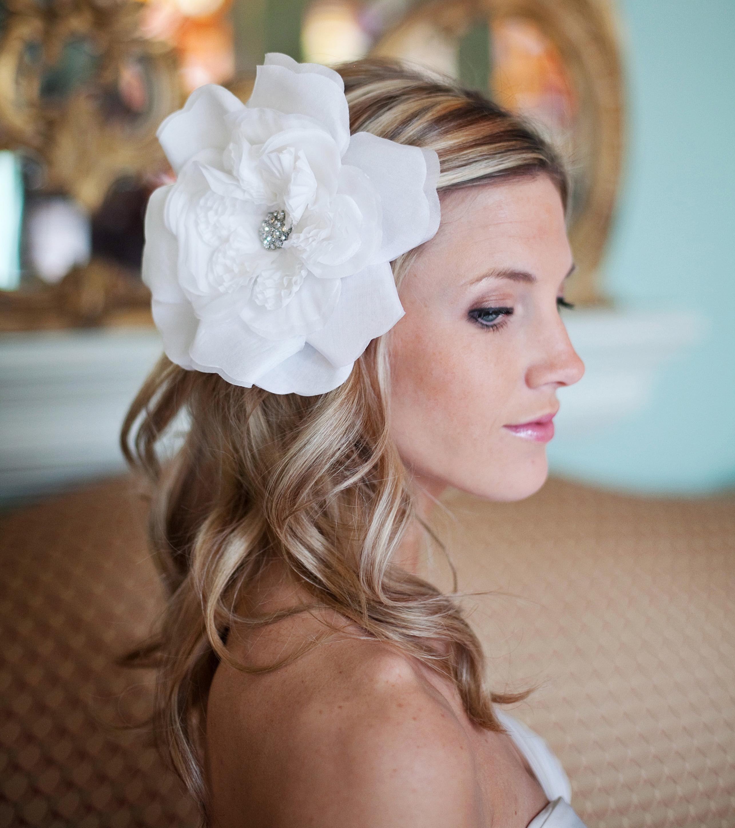 penteado de noiva - com flor