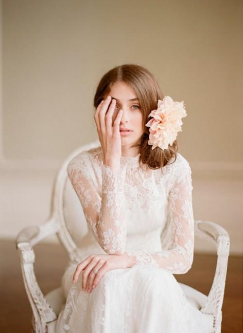 penteado de noiva- com flores
