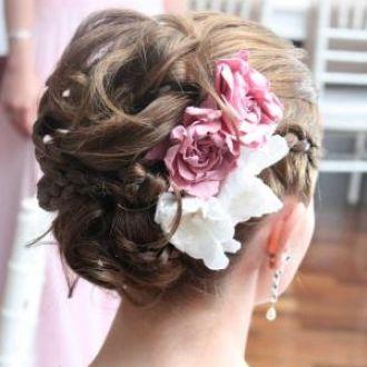 penteado de noiva gardenias+no+flor de cór