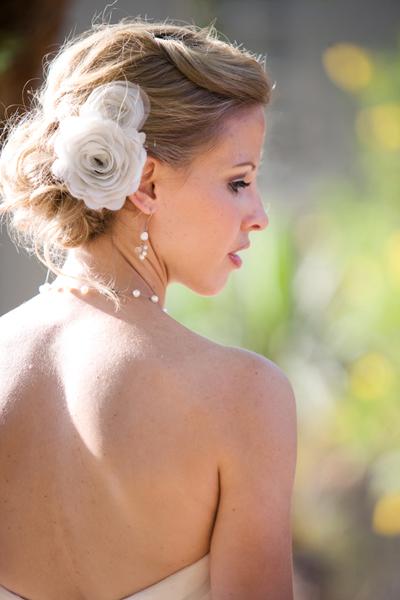penteado de noivas flores
