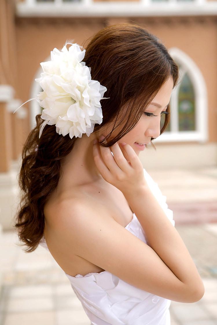 penteado noiva de flor
