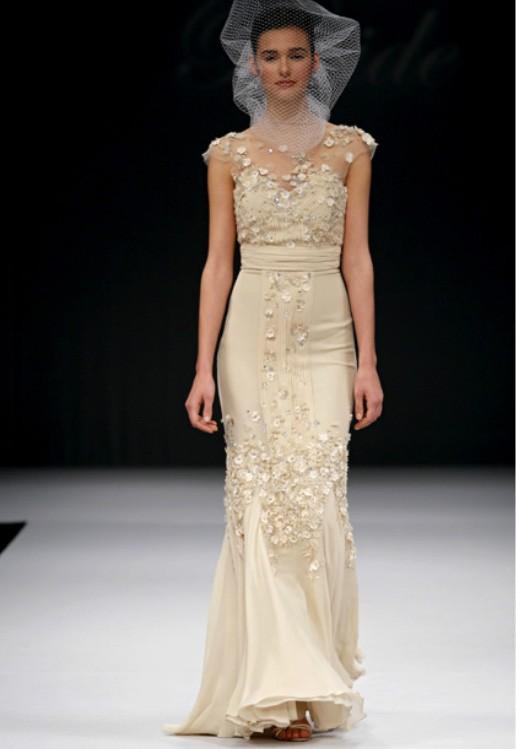 vestido de noiva nude BADGLEY_MISCHKA