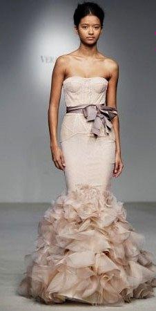 vestido de noiva nude vera