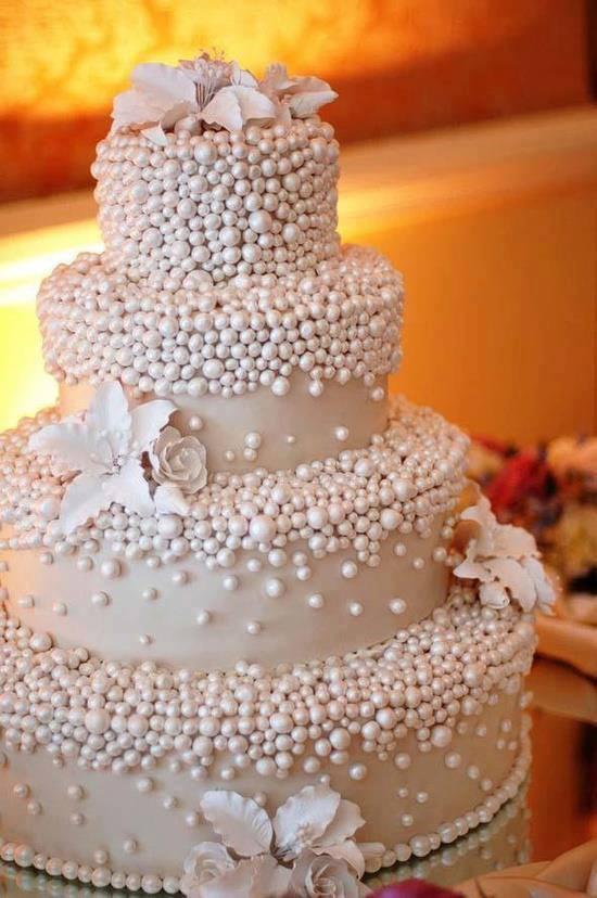 bolo de casamento perola