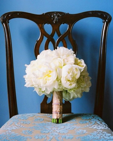 bouquet de noiva - White Bouquet peonies