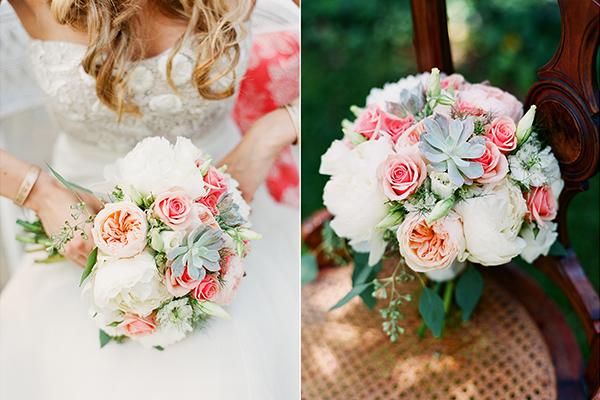 bouquet de noiva colorido