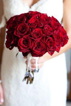bouquet de noiva vermelho