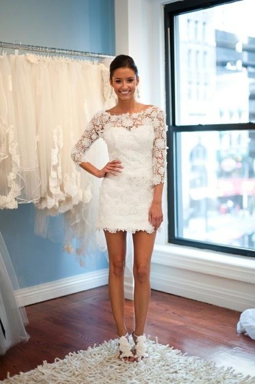 vestido de noiva curto 411