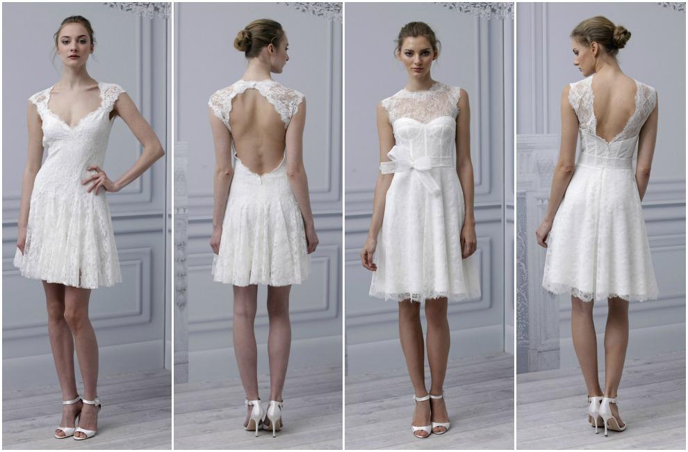 vestido de noiva curto monique
